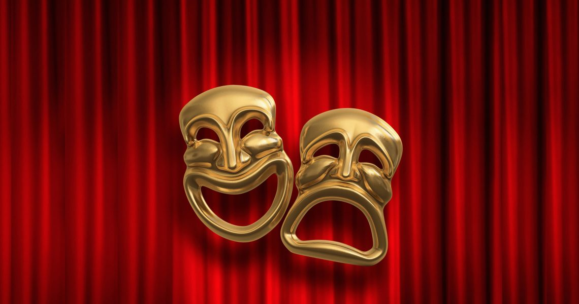 Masks and Curtain Bigger Image